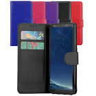 Premium Wallet Case Leather Flip Cover For Samsung Galaxy S8 Case + Screen