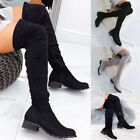 Kyпить Women Over The Knee Stretch Thigh High Heel Boots Pointed Toe Lace Up Boot Shoes на еВаy.соm