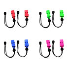 2pcs Emergency Safety Whistles with Adjustable Wrist Strap for Scuba Kayaking