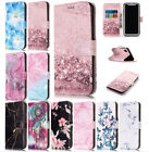Art Glossy Granite Marble Soft TPU Phone Wallet Case Cover For apple iPhone X