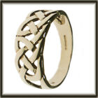 9ct GOLD CELTIC RING SIZE T JEWELLERY COMPANY