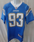 San Diego Chargers NFL Castillo Replica Sewn Football Jersey Light Blue #93