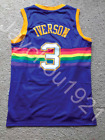 RARE Allen Iverson Denver Nuggets Blue Swingman Sewn On Jersey Size Men S XL NWT