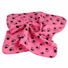 Warm Pet  Dog Cat Paw Print Fleece Blanket Dog Cat Fleece Blanket Mat Bed Sofa