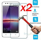 2x 9H Premium Tempered Glass Screen Protector For Huawei Y3 Y5 Y6 Y7 2017 / 2016