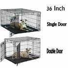 MidWest Dog Crates Folding Metal Single&Double Door Size 22