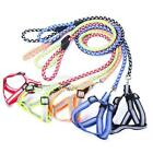 Small Dog Pet Puppy Reflective Safety Nylon Harness with Lead Leashes Adjustable