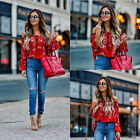 Fashion Women Summer Loose Top Short Sleeve Blouse Ladies Casual Tops T-Shirt us