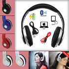 Foldable Wireless Bluetooth HIFI Stereo Headphones For Samsung iPhone 6 7 HTC PC