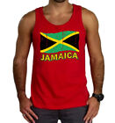 New Men's Grunge Jamaica Flag Red Tank Top Tee Jamaican Pride Rasta Reggae Rave