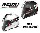 NOLAN N86 'RAPID' GRAPHIC - FULL FACE MOTORCYCLE HELMET - MADE IN ITALY