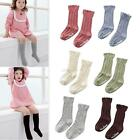 red tights kids - Baby Kids Boys Girls Knee High Socks Toddler Cotton Lace Stockings Tights 0-4T