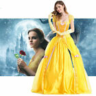 Halloween beauty and the beast Belle Adult Princess Dress Costume Cosplay Party