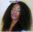 8A Virgin Human Hair Wig Soft Kinky Curly Full/Front Lace Wig For Black Women