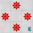 Flowers Vinyl Wall Tile Stickers Decals Transfers Kitchen Bathroom Home Decor