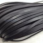 Внешний вид - 10 Meter Flat Genuine Leather Rope Cord for Bracelet Necklace Strap DIY 3mm-10mm