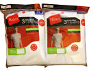 6 pack hanes mens white t shirt sizes choose your size image