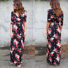 Autumn New Women Ladies Floral Long Evening Party Cocktail Prom Beach Maxi Dress