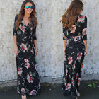 Women Ladies Prom Long Evening Party Cocktail Beach Floral Maxi Dress Autumn New