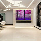 Living Room Oil Purple Tree Painting Wording Picture Wall Image Hangings Decor