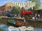 BOURNEVILLE CANAL BOAT STEAM TRAIN HOME OF CHOCOLATE TIN SIGN METAL PLAQUE 1068