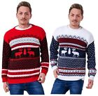 Mens Christmas Jumper Knitted Pullover Sweater Warm Casual Outwear S to XL