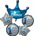 1ST FIRST BIRTHDAY BABY BOY PRINCE CROWN NUMBER 1 BALLOON PA