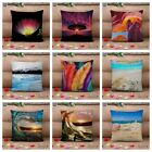 3D Print Throw Cushion Cover Pillow Case Linen Cotton Home Sofa Car Decor 18""