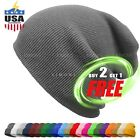 Cuff Beanie Knit Hat Winter Warm Cap Slouchy Skull Ski Hats Men Women Warm Plain