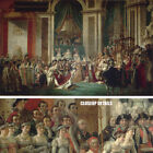 """50W""""x31H"""" THE CORONATION OF NAPOLEON by JACQUES-LOUIS DAVID - CHOICES of CANVAS"""