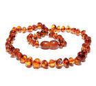 """Baltic Teething Necklace for Baby Polished Beads 3 Sizes 8 Colors 11 - 13.4"""""""