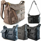 Ladies Medium Satchel Faux Leather Cross Body Bag Women Shoulder Handbag Hobo