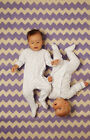 Grosuit Gro Suit Baby gro Twin pack Sleep Suit Padded Arms use with Grobag - NEW