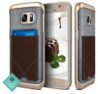 For Samsung Galaxy S7 Caseology® [MESSENGER] Pure Leather Card Pocket Case Cover