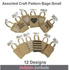 10 Pack Small Pattern BROWN KRAFT Lolly Candy BAGS Loot Party CRAFT Gift Bag