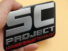 SC Project Aluminum Badge Emblem Decal Exhaust Sticker Racing Sport Auto Car NEU