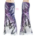 Butterfly Floral Feather Animal Sublimation maxi long skirt S/M/L/XL/1XL/2XL/3XL