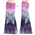 Paisley Purple Pink Boho Sublimation maxi long skirt S/M/L/XL/1XL/2XL/3XL