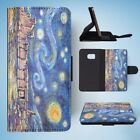 VAN GOGH STARRY NIGHT INSPIRED FLIP WALLET CASE COVER FOR SAMSUNG GALAXY S7 EDGE