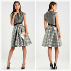 2017 New Ted Baker London $575 Reetah Side Cutout Stripe and Circle Dress Size 3