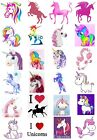 65 Mixed Unicorn Small Sticky White Paper Stickers Labels NEW
