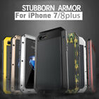 Aluminum Metal Shockproof Waterproof Glass Case Cover for iPhone 8 7 6S Plus 5