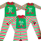 Family Mum Dad Little Christmas Team Elf / Elf In Training Festive Xmas Pyjamas