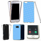 Shockproof 360° Silicone Clear case cover for many mobiles - design ref zx2156
