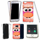 Shockproof 360° Silicone Clear case cover for many mobiles - design ref zx1041
