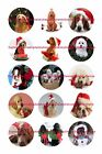 "CHRISTMAS DOGS 1"" CIRCLES BOTTLE CAP IMAGES. $2.45-$5.50  **FREE SHIPPING**"