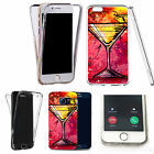 Shockproof 360° Silicone Clear case cover for many mobiles - design ref zx0824