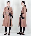 Zara Studio Oversize Pink Double Breasted Contrast Belt Trench Coat Xs- S M - L