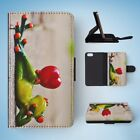 FUN CLASSIC CUTE FUNNY FROG #5 FLIP WALLET CASE COVER FOR IPHONE 5 / 5S / 5SE
