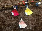 lot Cartoon princess Metal Charm Pendant DIY Necklace Jewelry Making